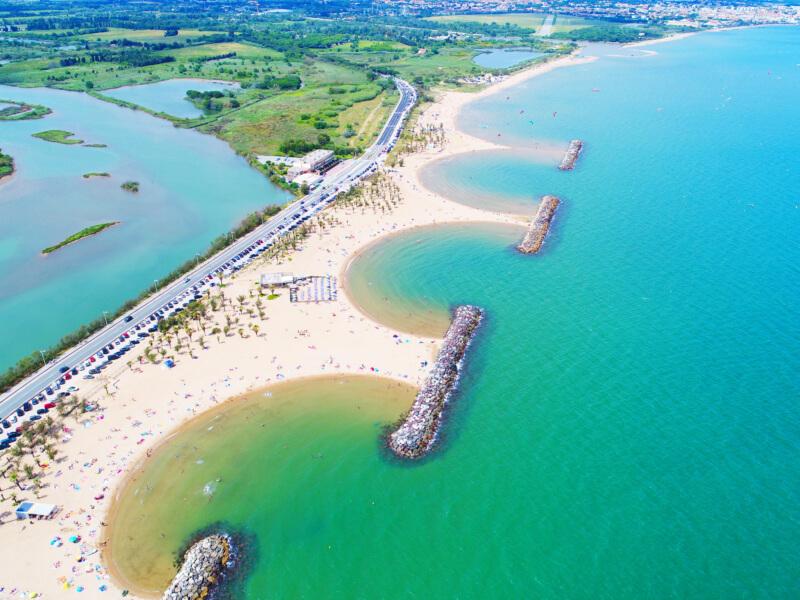 Les plages de Fréjus, Saint-Aygulf vue aérienne