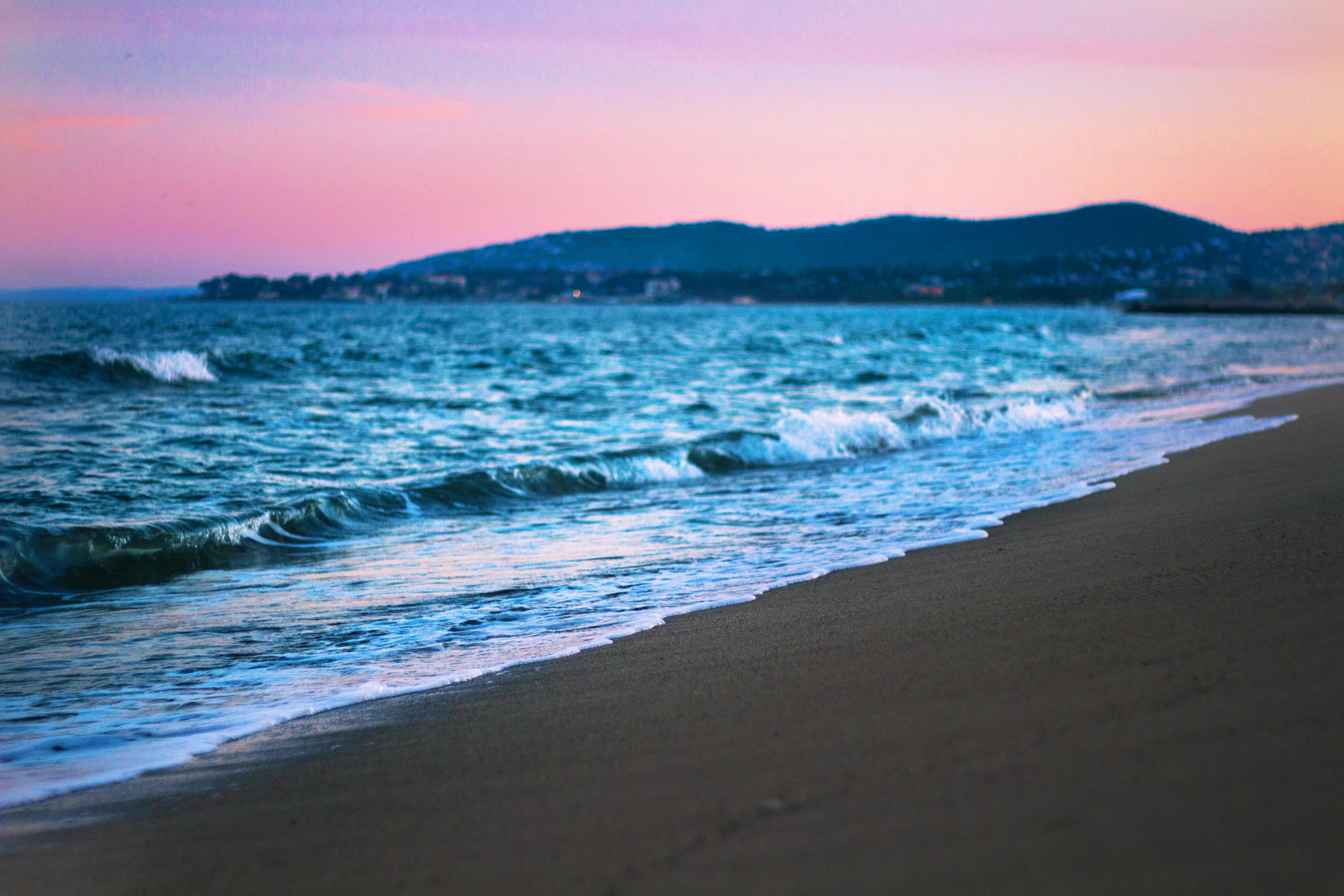 Les plages de Fréjus, coucher de soleil