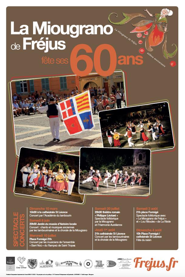 Spectacle folklorique avec «La Miougrano de Fréjus» et «Lou Réoules» de la Réole