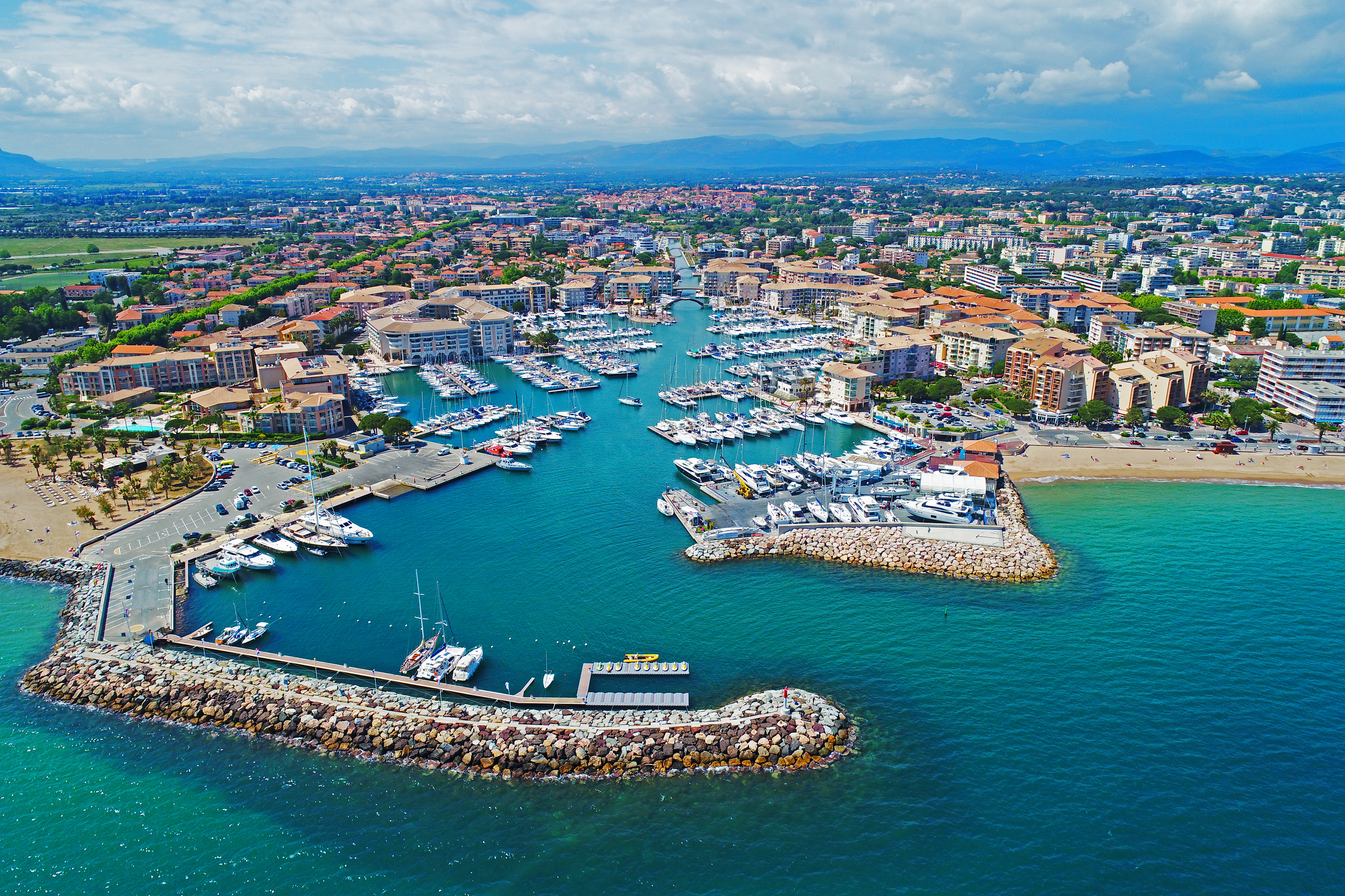 Vue aérienne Port-Fréjus - Photothèque pour professionnels