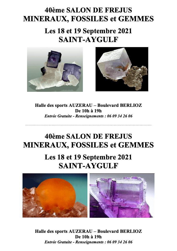 40ème salon de Fréjus «mineraux, fossiles et gemmes»