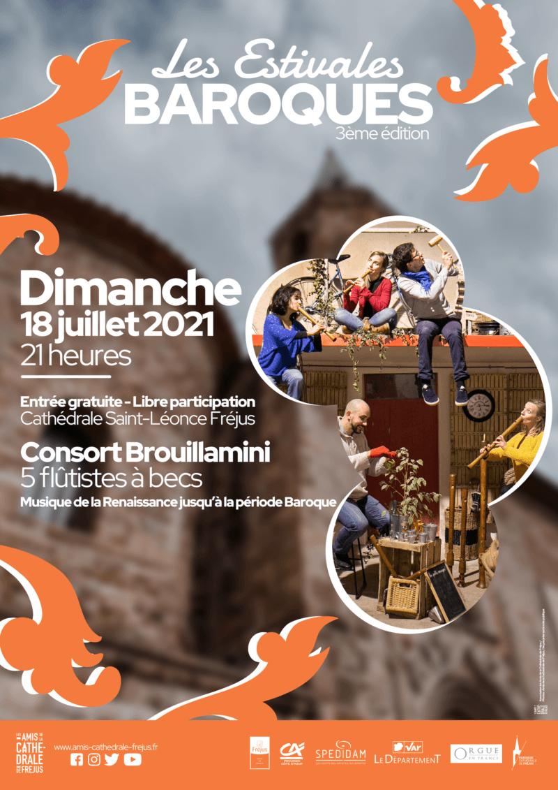 Les estivales baroques «Concert de l'ensemble de flûtes à bec BROUILLAMINI»