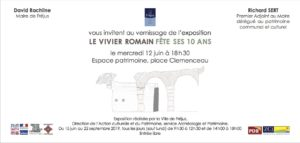 Invitation vernissage expo vivier romain